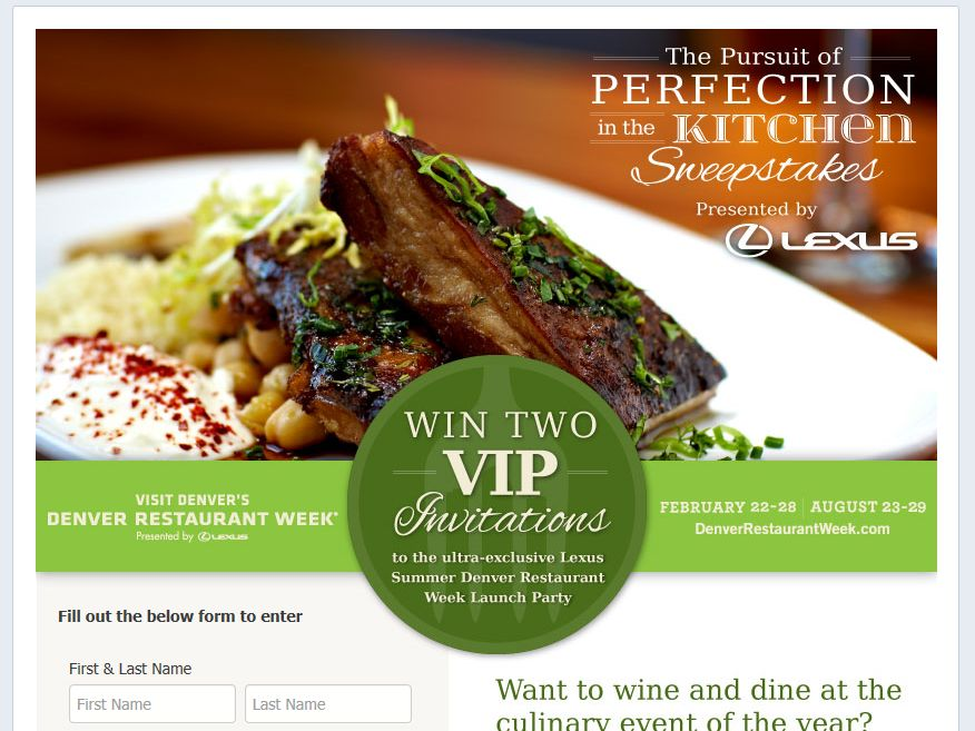 Visit Denver The Pursuit of Perfection in the Kitchen Sweepstakes