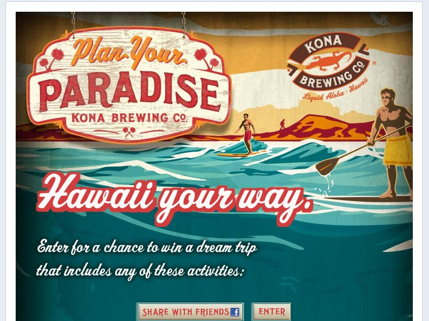 Kona Plan Your Paradise Sweepstakes – Limited States