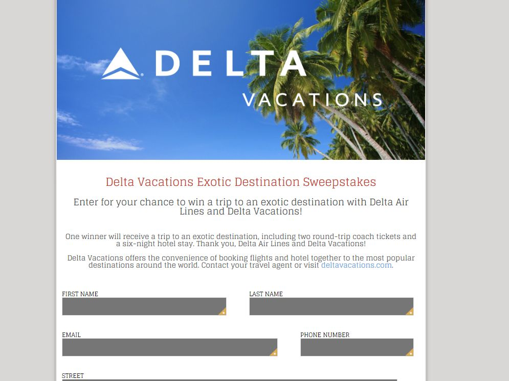 QUEEN LATIFAH SHOW Delta Vacations Exotic Destination Sweepstakes