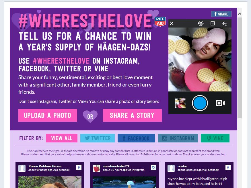 Rite Aid Where's the Love Sweepstakes