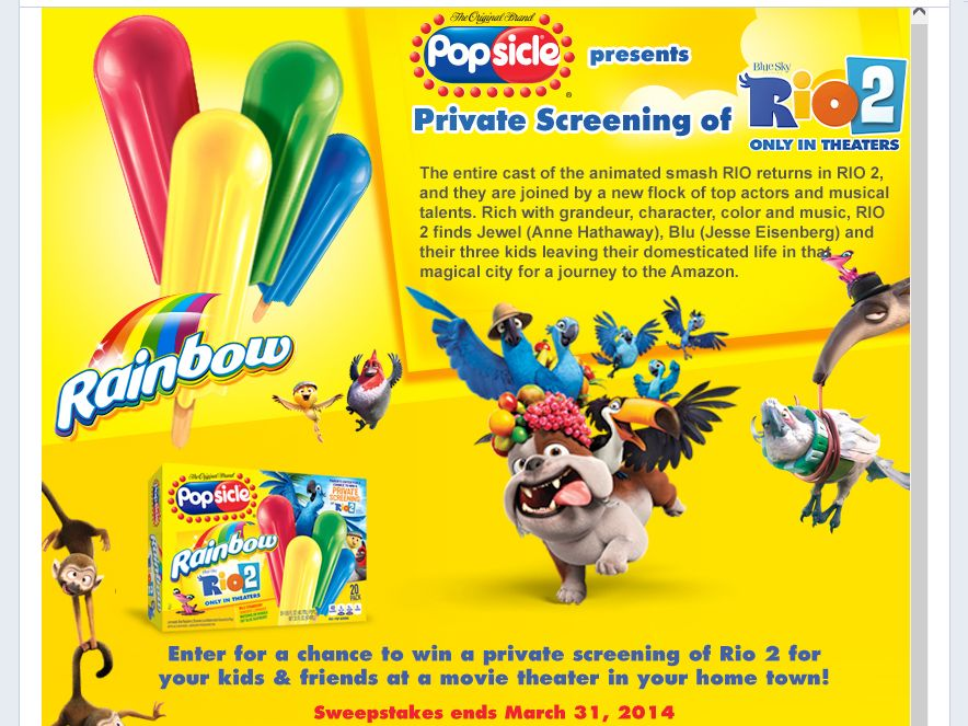Private Screening of Rio 2 Sweepstakes