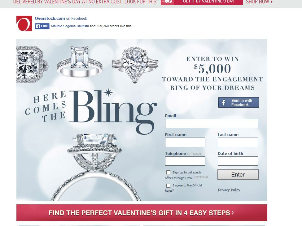Overstock.com Here Comes the Bling Sweepstakes