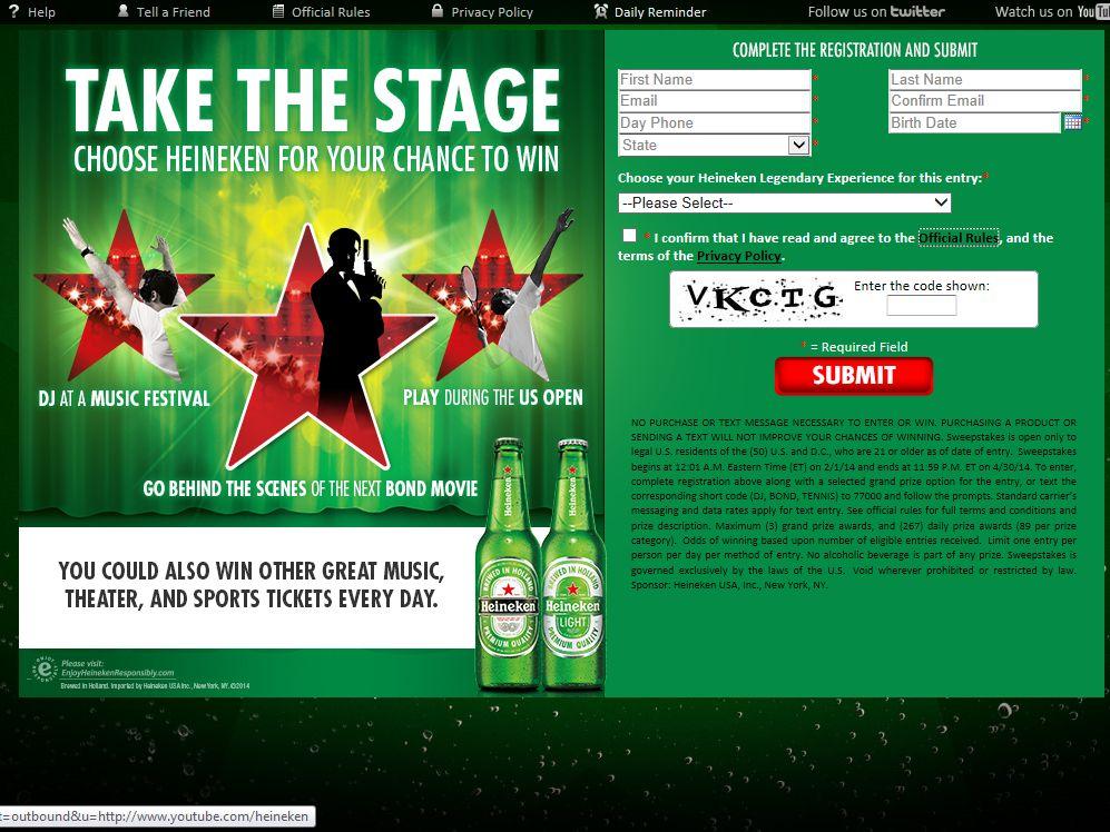 "Heineken ""Take the Stage"" Promotion"
