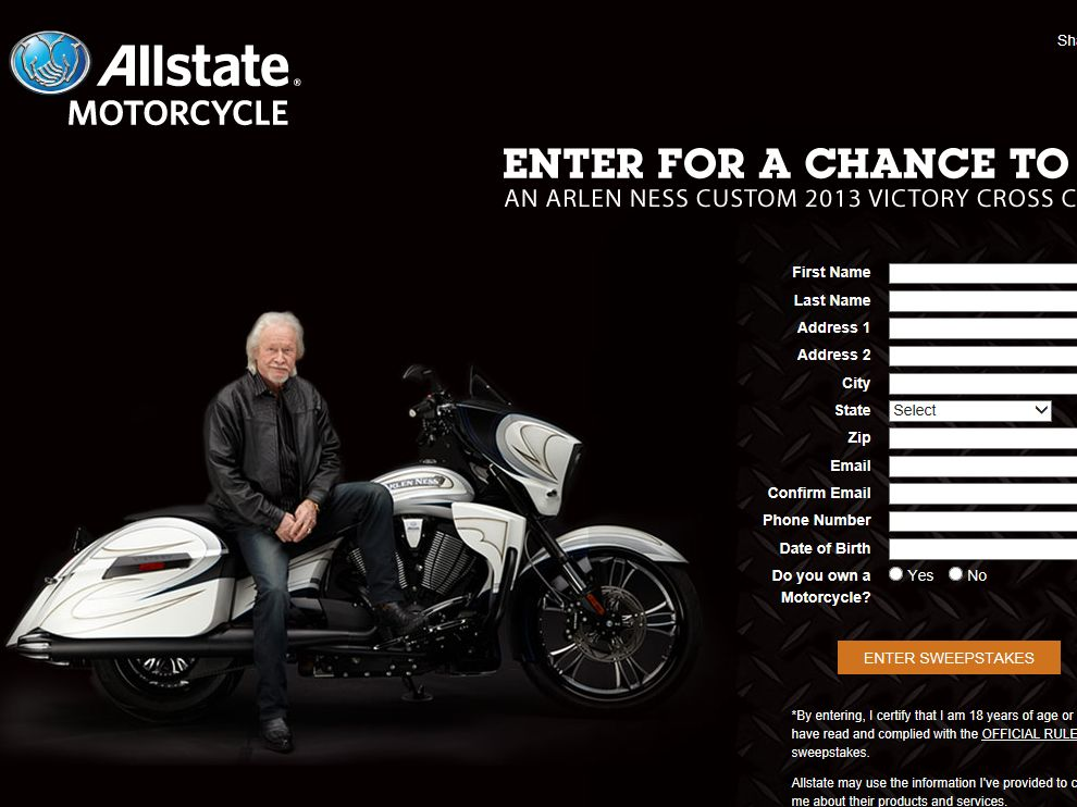 Allstate Victory Motorcycle Sweepstakes