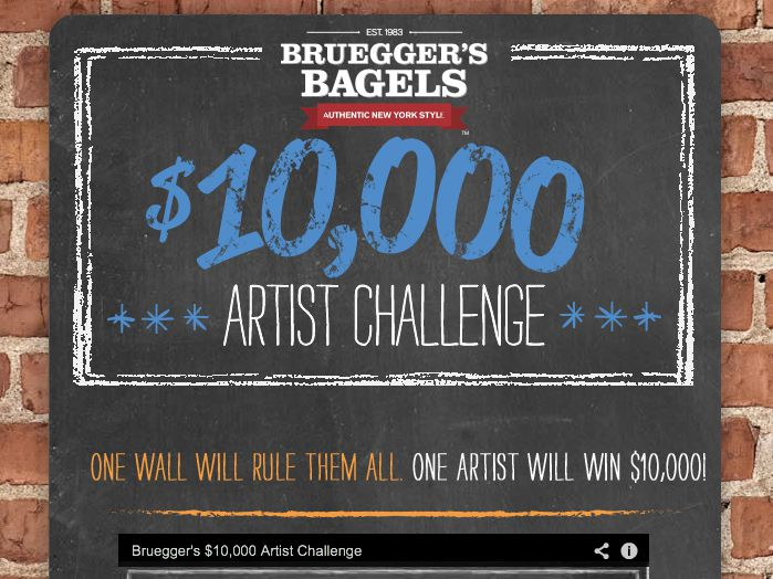 The Breuggers Bagels $10,000 Artist Challenge Contest