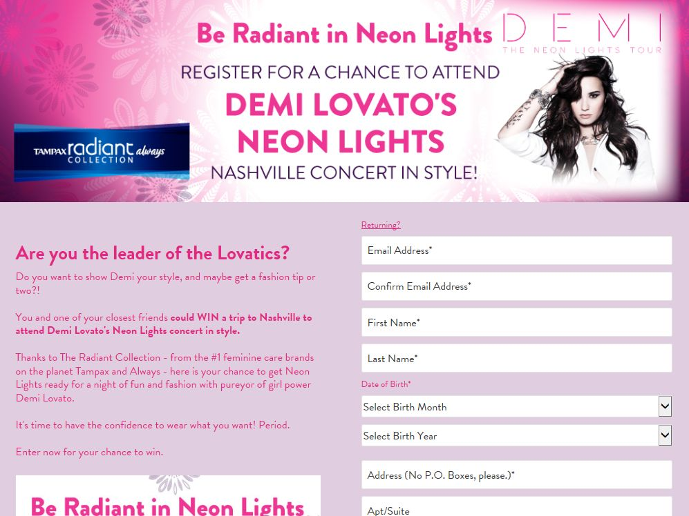 Be Radiant in Neon Lights Sweepstakes