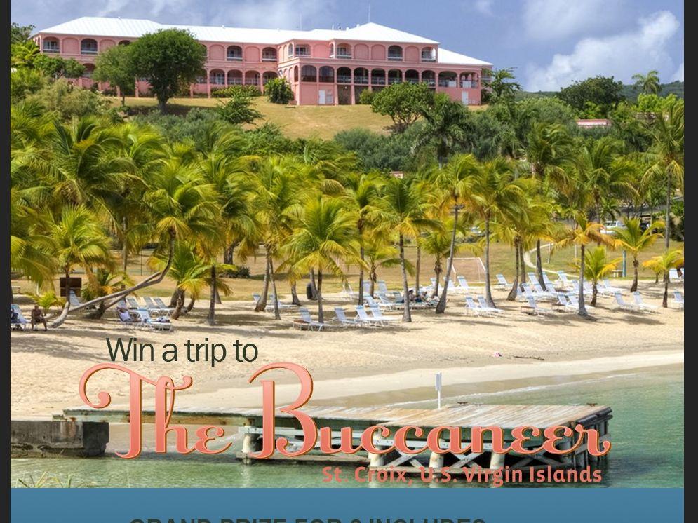 Win a Trip to the Buccaneer in St. Croix, U.S. Virgin Islands sweepstakes