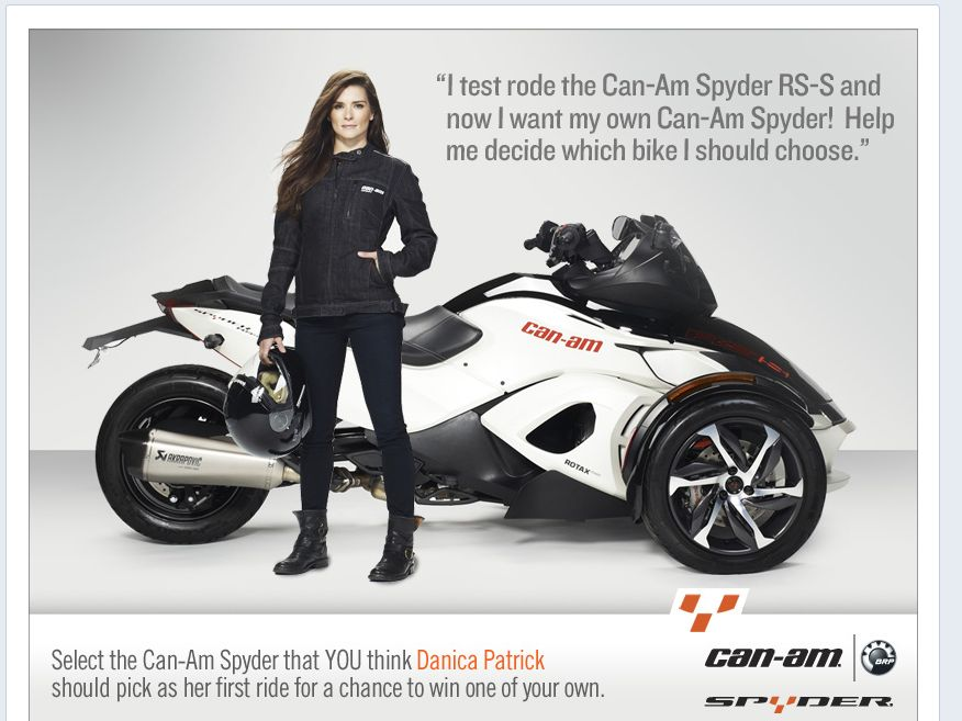 Pick, Win and Ride with Danica Patrick's First Ride Sweepstakes
