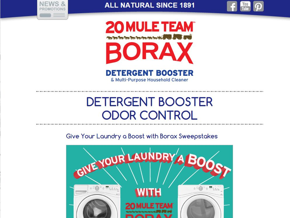 Give Your Laundry a Boost with Borax Sweepstakes