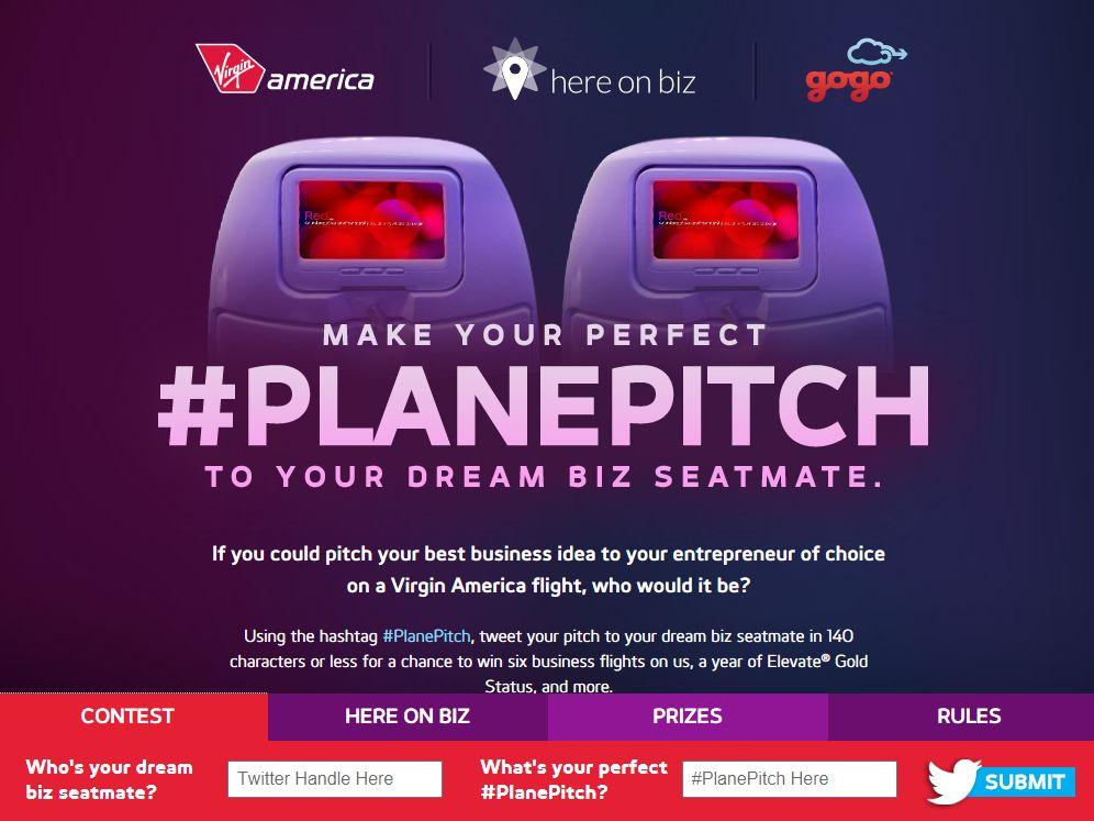 Virgin America #PlanePitch Contest