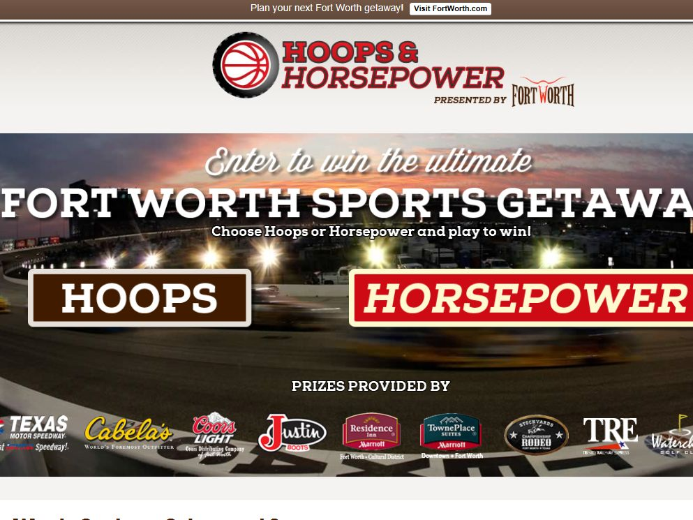 2014 Hoops and Horsepower Sweepstakes