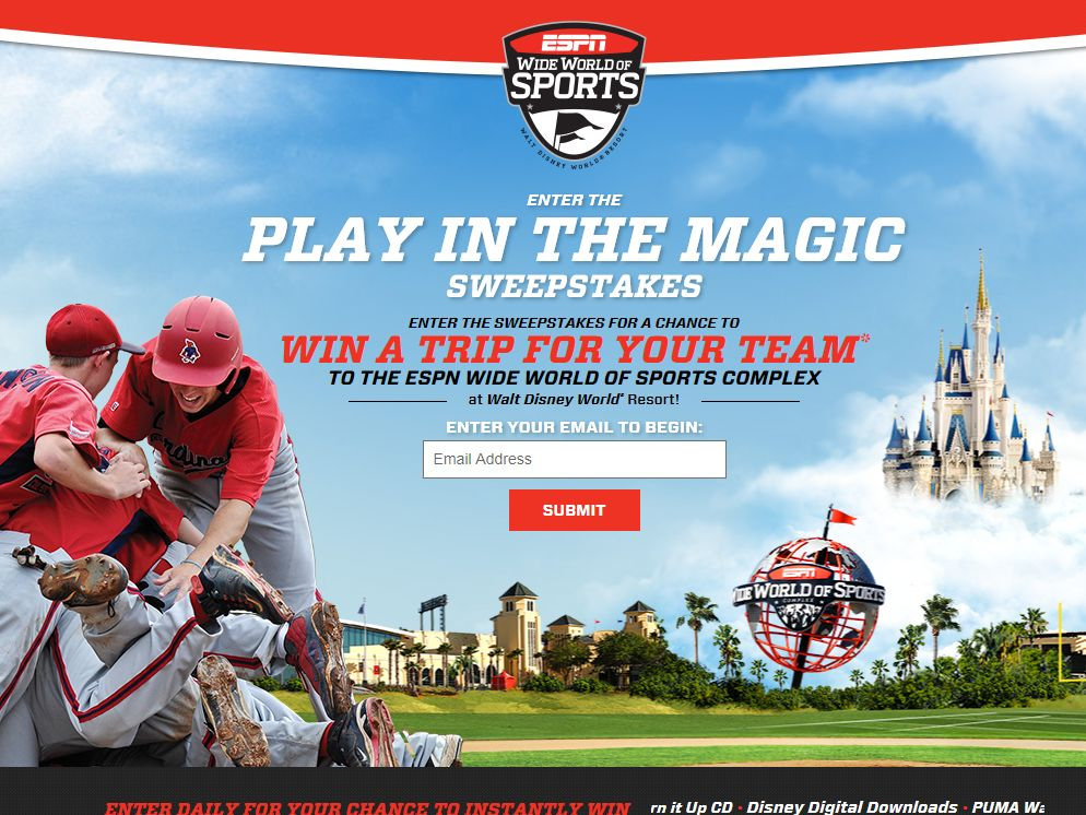 ESPN Wide World Of Sports Play In The Magic Sweepstakes
