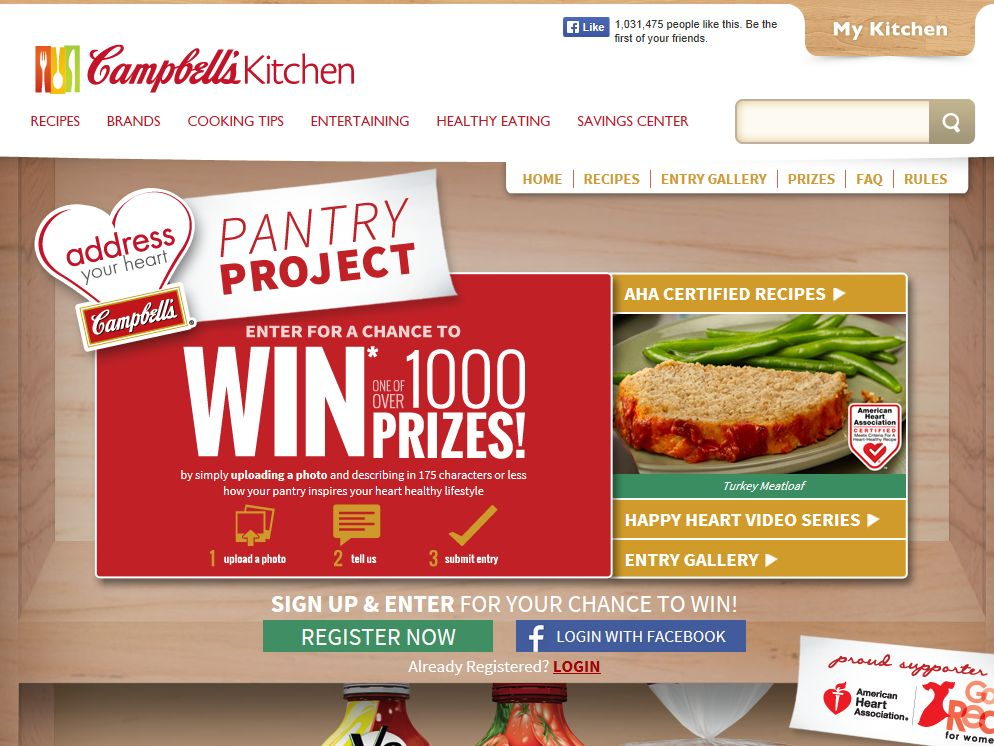 """Campbell Soup Company """"Address Your Heart Pantry Project"""" Sweepstakes"""