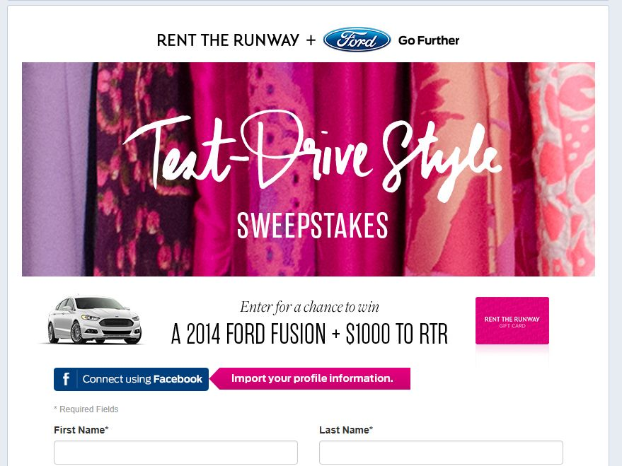 Rent the Runway Test Drive Style Sweepstakes
