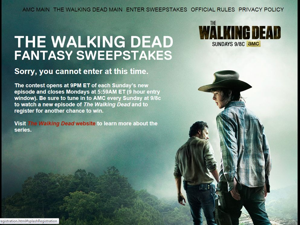 AMC's The Walking Dead Fantasy Sweepstakes