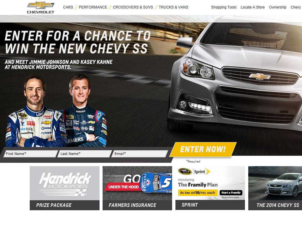 Chevrolet Win the 2014 Chevrolet SS Sweepstakes