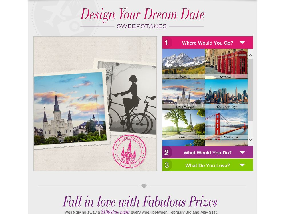 Walmart Design Your Dream Date Sweepstakes