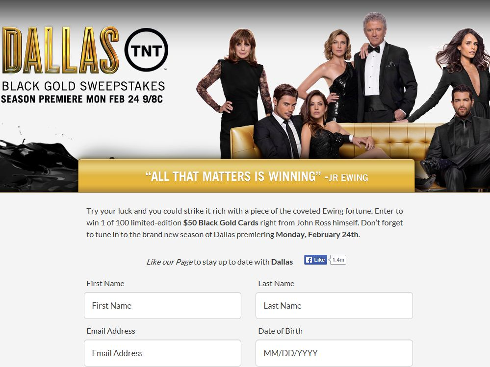 Dallas Black Gold Card Sweepstakes