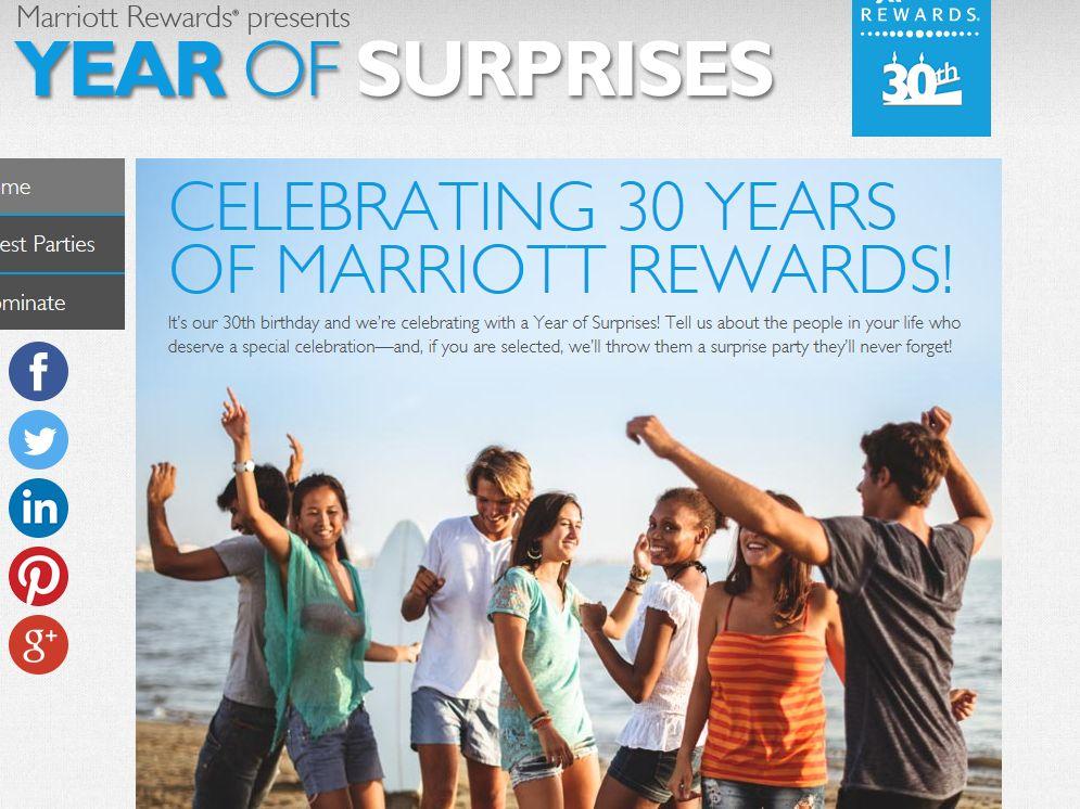 Marriott Rewards Year of Surprises Contest