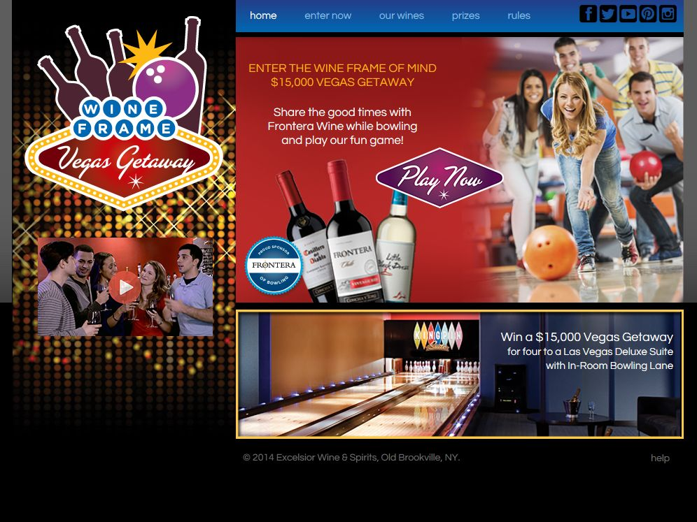 Frontera Wine Frame of Mind Las Vegas Getaway Sweepstakes