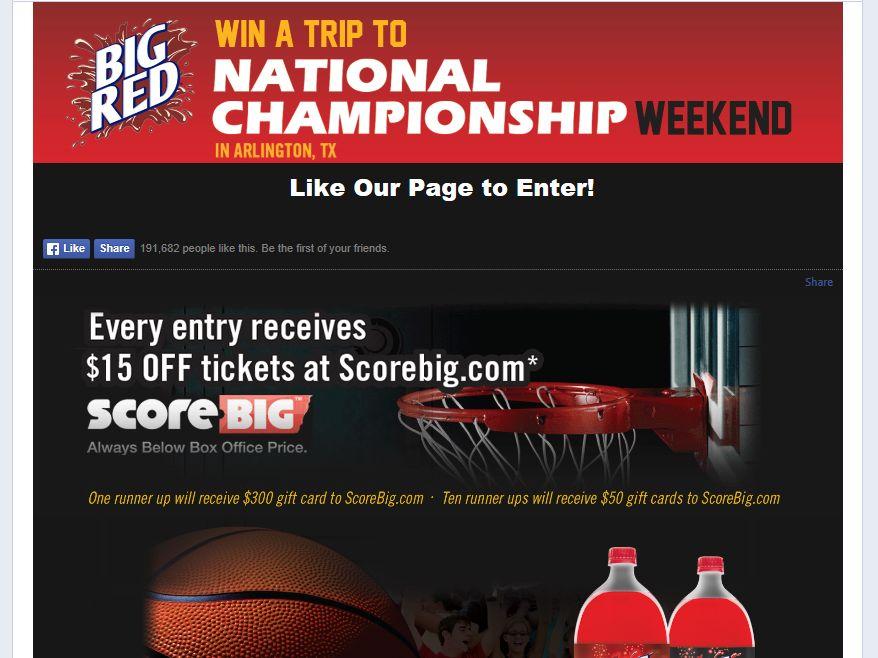 Big Red ScoreBig Sweepstakes