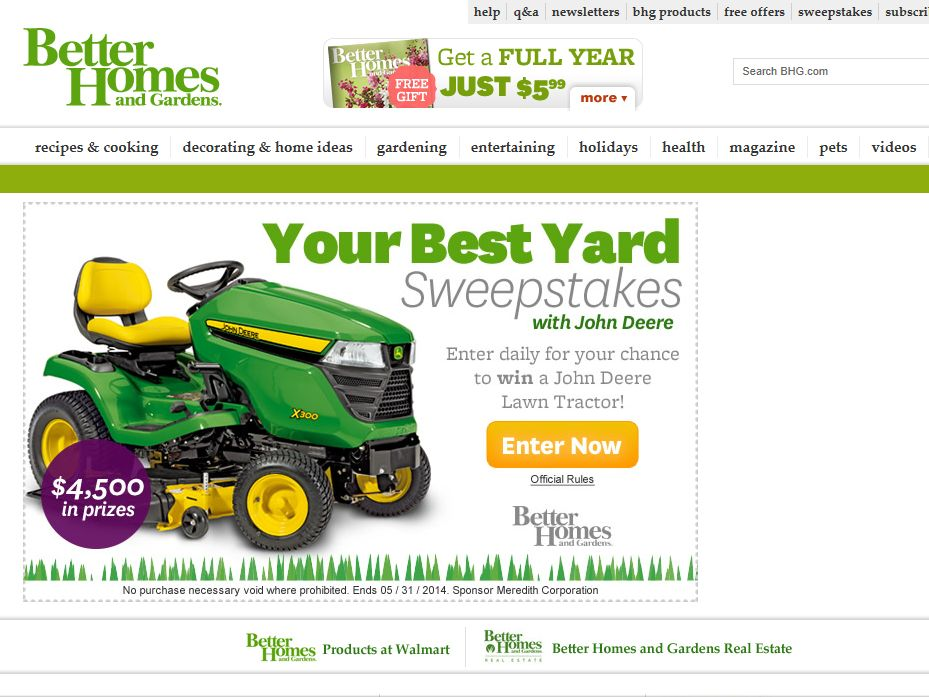Better Homes and Gardens Your Best Yard Sweepstakes