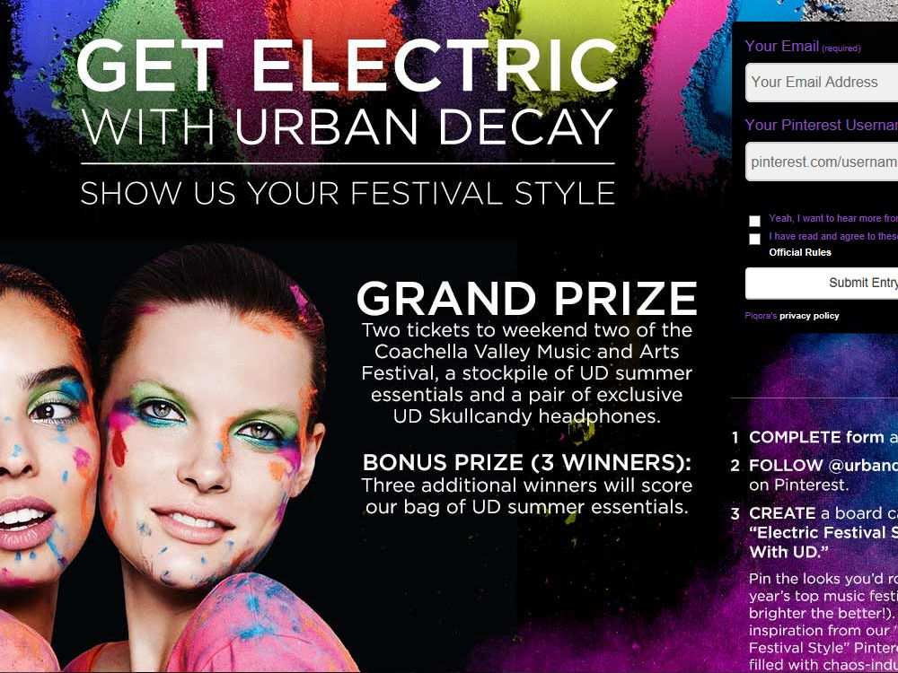 Get Electric With Urban Decay. Show Us Your Festival Style Contest