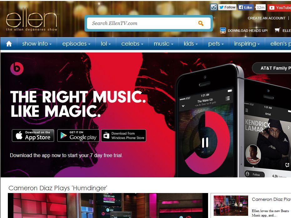 Ellen TV Beats Music and AT&T Digital Contest