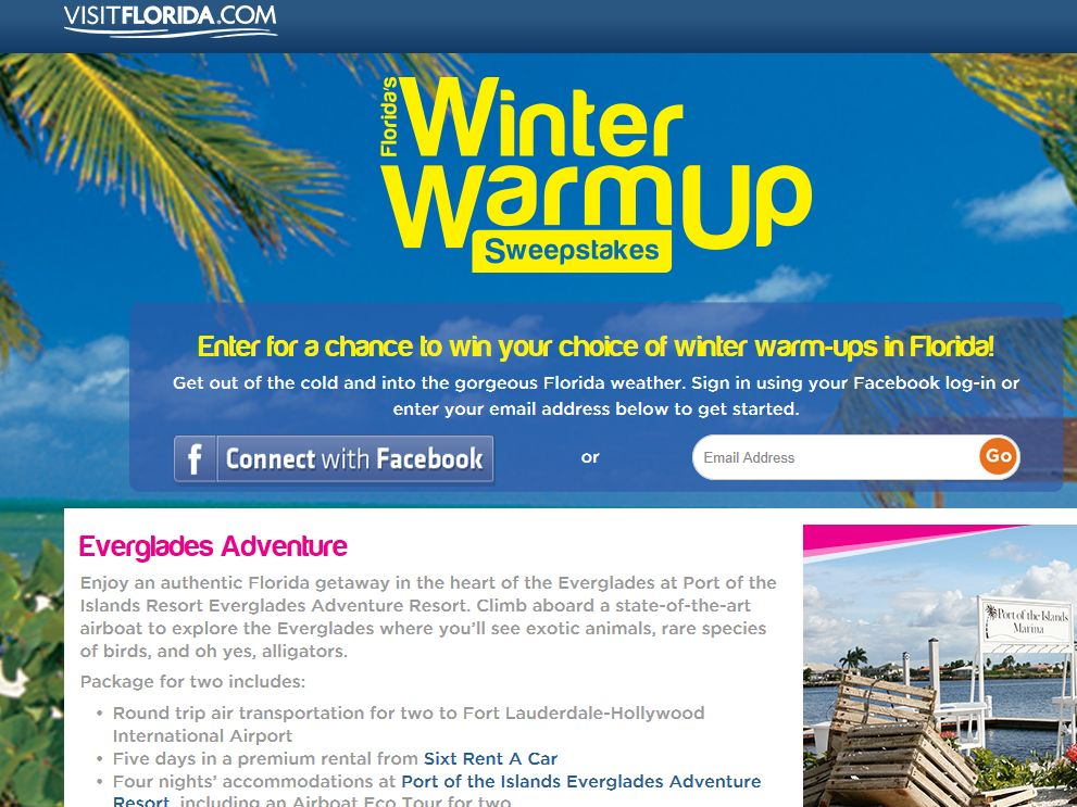 Florida's Winter Warm-Up Sweepstakes