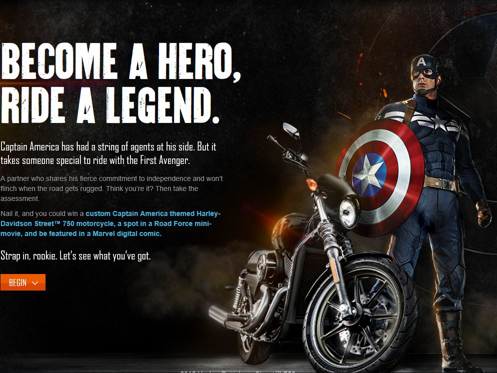"""Harley-Davidson's """"Captain America: The Winter Soldier"""" Contest"""