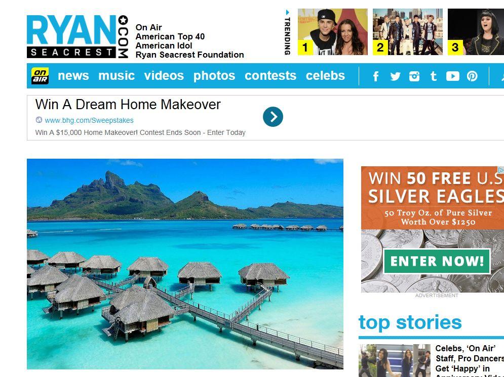 Ryan Seacrest's Bora Bora Getaway Sweepstakes