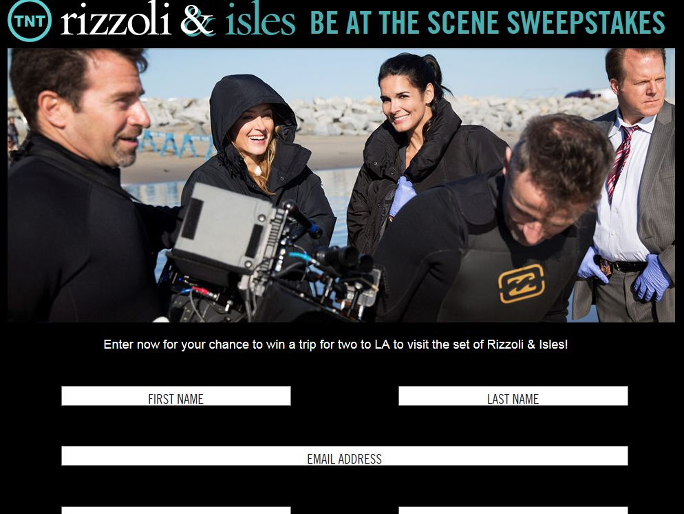 TNT and Rizzoli & Isles Be at The Scene Sweepstakes