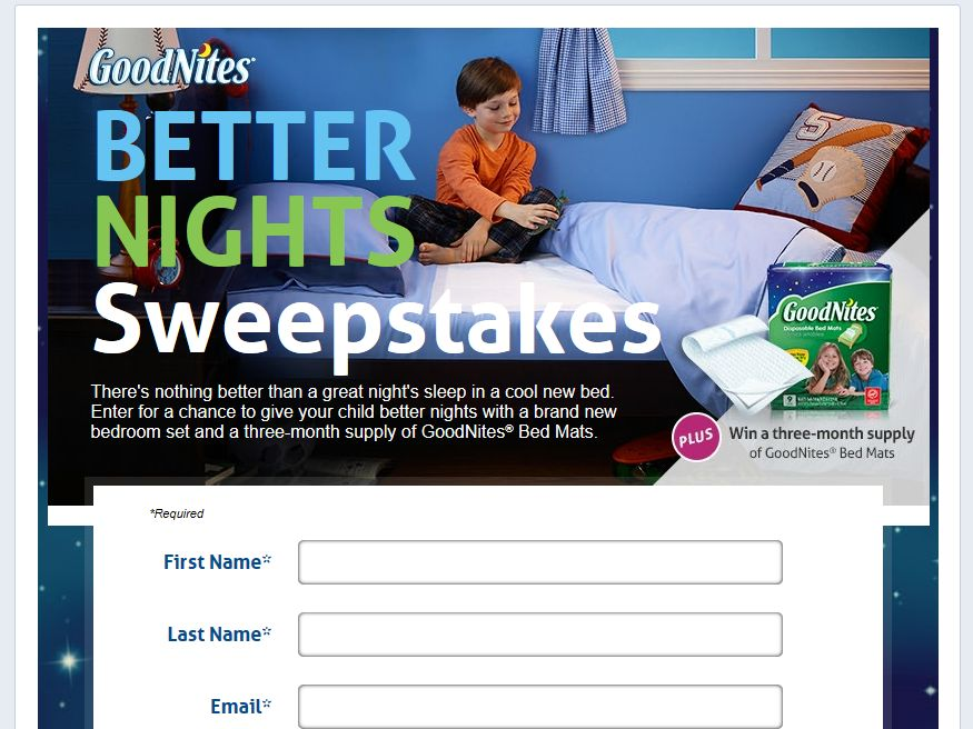 GoodNites Better Nights Sweepstakes