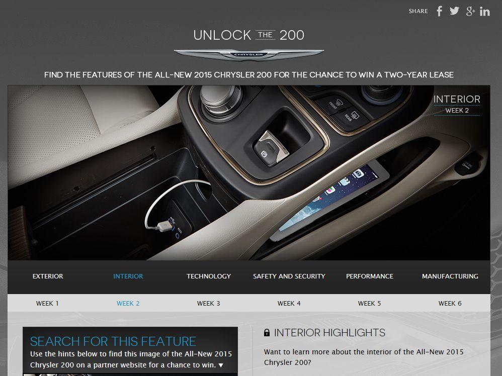 Chrysler Unlock the 200 Sweepstakes