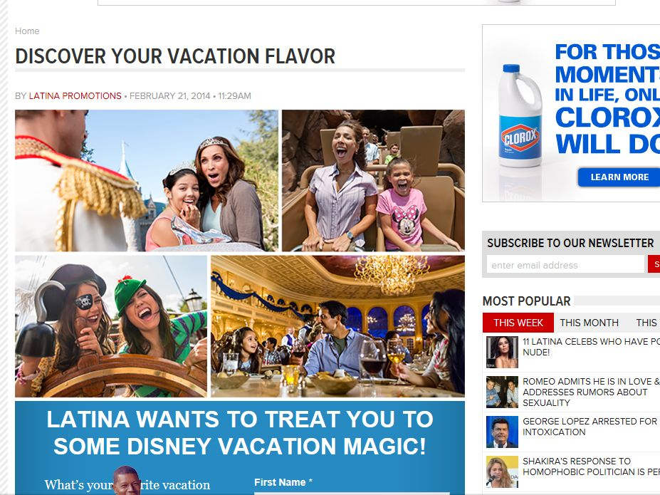 "Latina's ""Magic Flavor Vacation"" Sweepstakes"