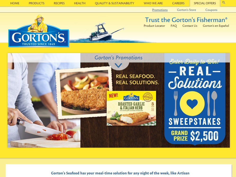 "Gorton's ""Real Solutions"" Sweepstakes"
