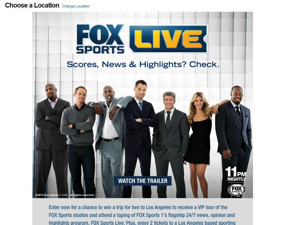 FOX SPORTS LIVE Sweepstakes