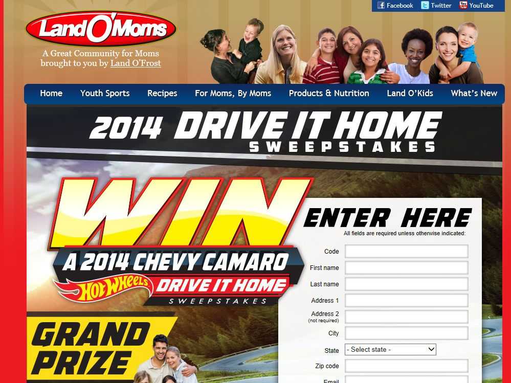 Land O' Moms Land O'Frost Drive It Home Sweepstakes