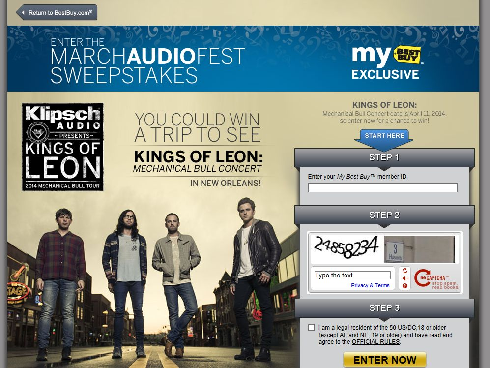 Best Buy March AudioFest Sweepstakes