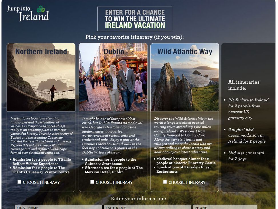 Ultimate Ireland Vacation Giveaway
