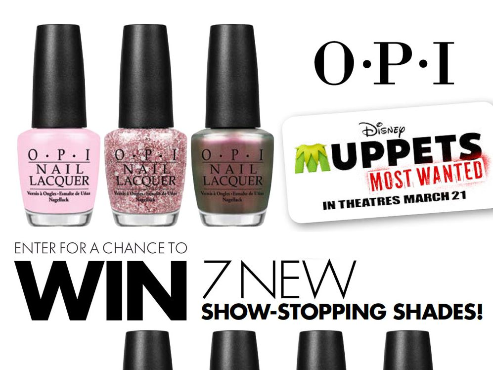 OPI Disney's Muppets Most Wanted Nail Lacquer Sweepstakes
