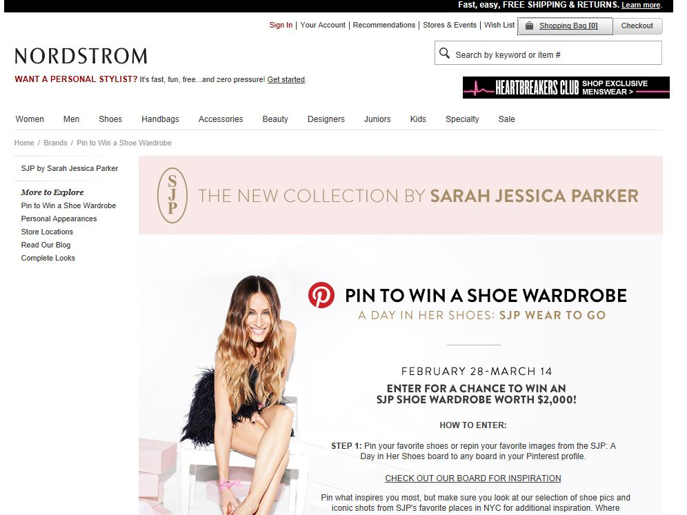 Nordstrom SJP Wear To Go Pinterest Sweepstakes