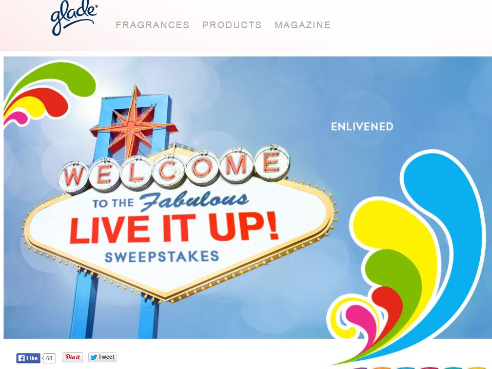 "Glade ""Live It Up"" Sweepstakes"