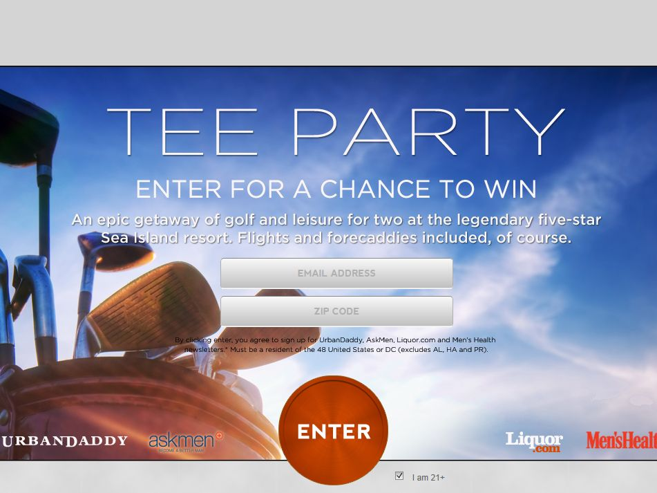 Urban Daddy Tee Party Sweepstakes