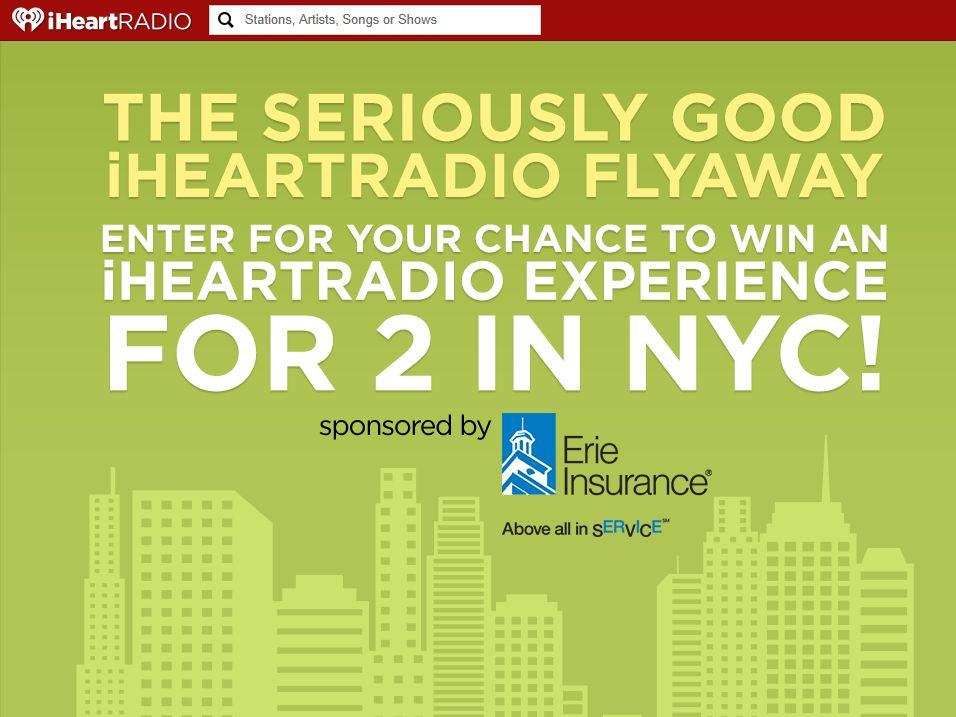 Seriously Good iHeartRadio Flyaway Sweepstakes