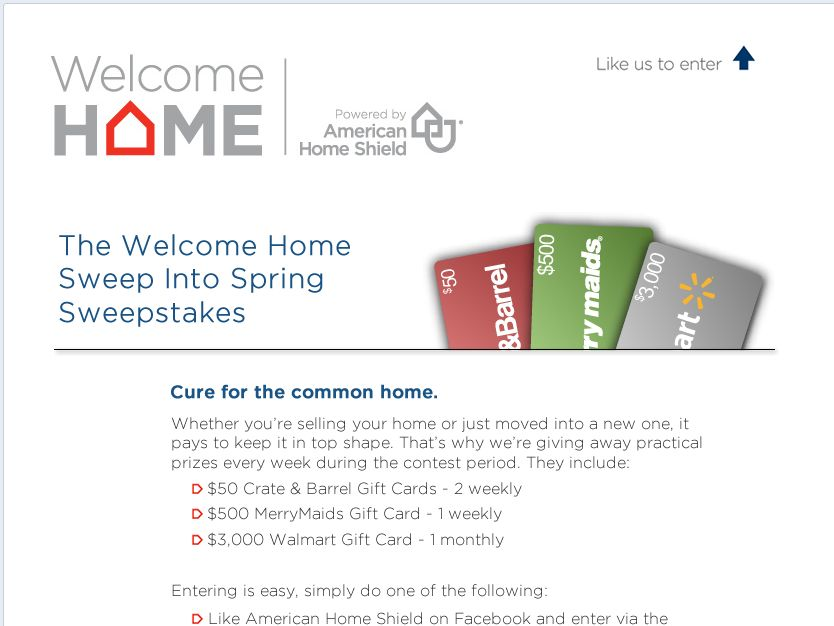 Welcome Home Sweep Into Spring Sweepstakes