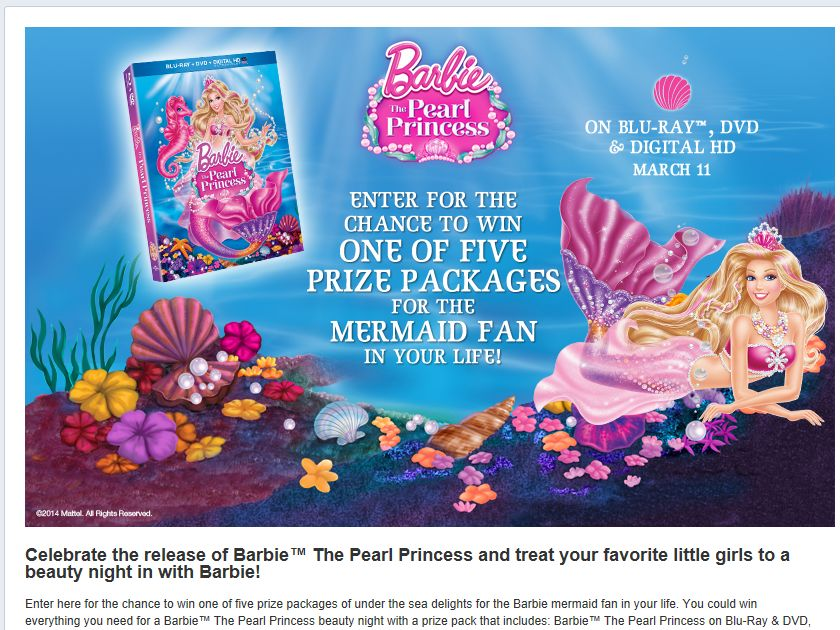 Barbie The Pearl Princess Sweepstakes