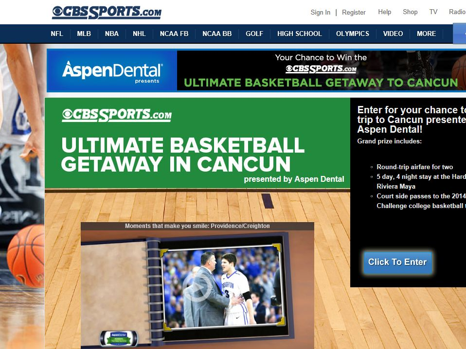 CBSSports.com Ultimate Basketball Getaway in Cancun Sweepstakes
