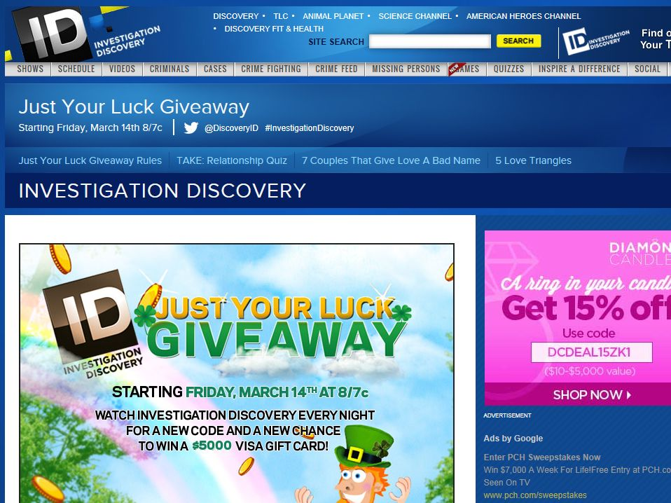 Investigation Discovery Forget You Week Giveaway – Code Required