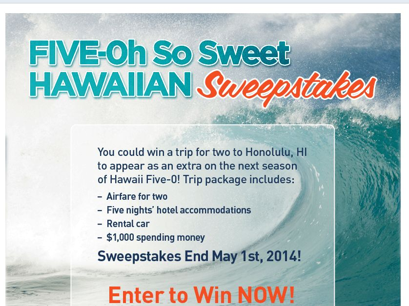 Five-Oh So Sweet Sweepstakes